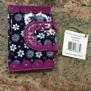 Vera Bradley Pretty & Petite Card Holder Boysenber